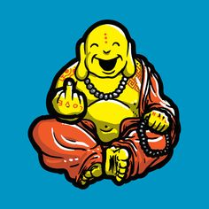 buddha middle finger