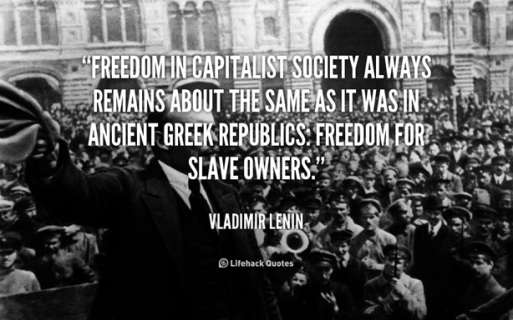 lenin freedom for slave owners