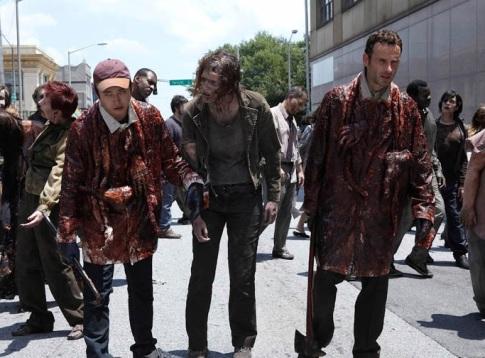walking dead zombie blood