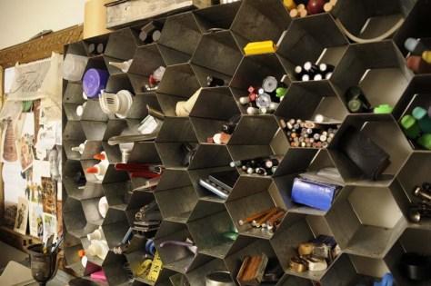 hexagonal compartments